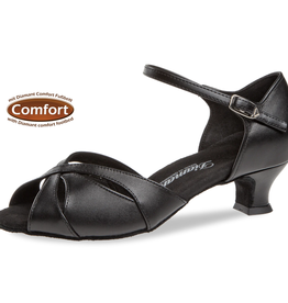 """Diamant 144-011-034-Ballroom Shoes 1.5"""" Suede Sole Leather-BLACK"""