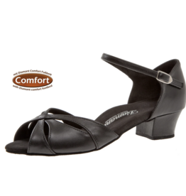 Diamant 144-103-034-Ballroom Shoes 1.2'' Suede Sole Leather-BLACK