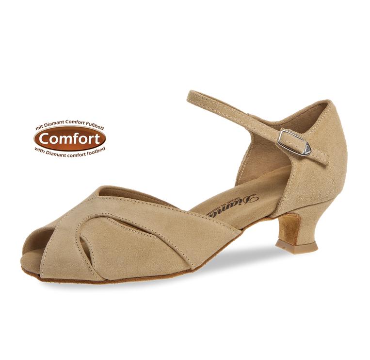 """Diamant 011-011-526-Ballroom Shoes 1.5""""Suede Sole Suede-BEIGE"""