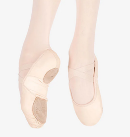 Capezio 2038W-Hamani Leather Ballet Split Sole With 4 Way Stretch Neoprene Insert Adult