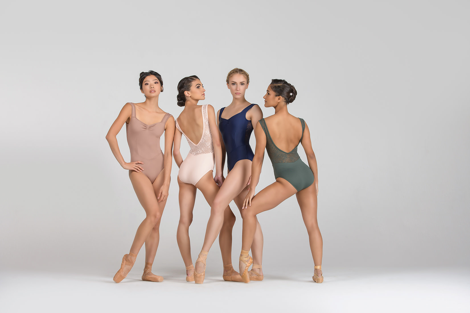 Ballet Rosa INAYA-Pinch Front Scoop Back Tank Leotard
