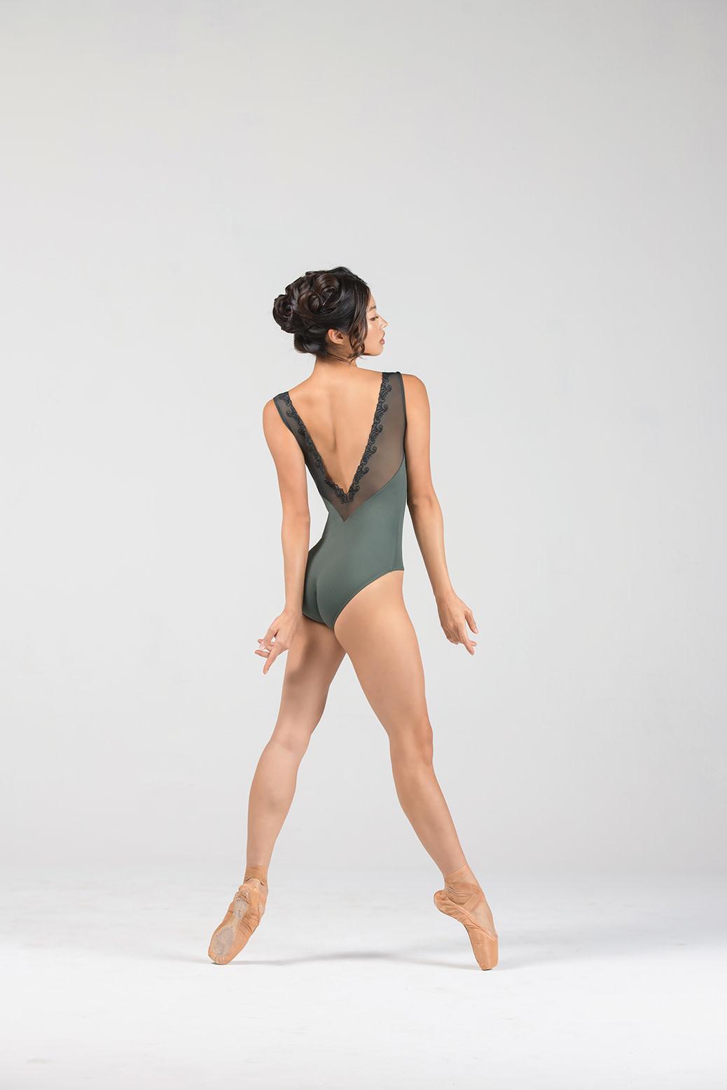 Ballet Rosa NOVELLA-V Neck Tank Leotard