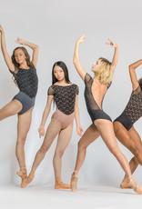 Ballet Rosa CORALIE-Short Sleeve Leotard V Open Back