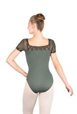 Ballet Rosa AURORA-Short Sleeve Square Neck Leotard