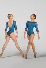 Ballet Rosa SEVERINE-Leotard Col Rond Manches 3/4 -ENCRE BLEU-38 (S)