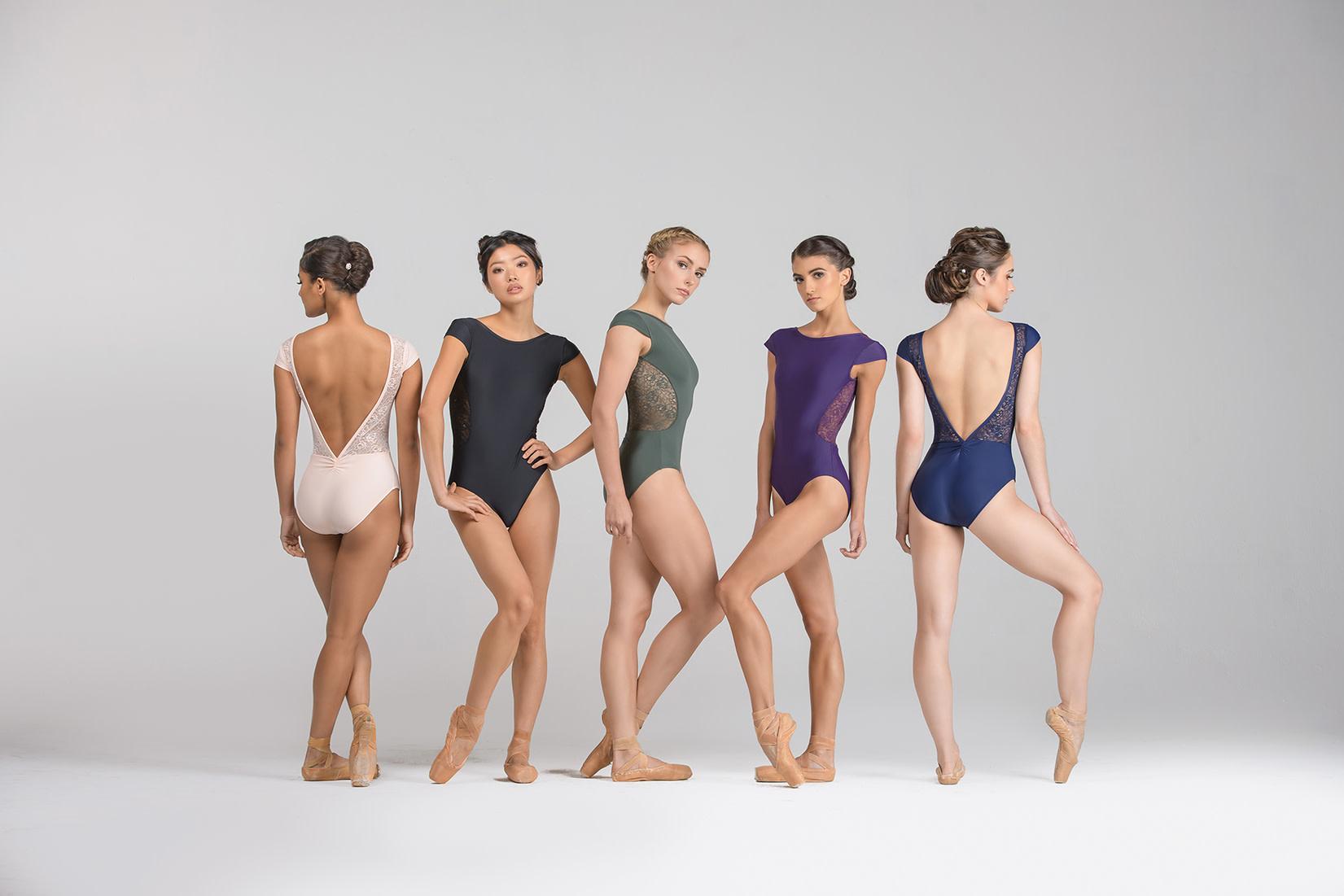 Ballet Rosa MAEVA-Cap Sleeve BoatneckV Back Leotard-NOIR-38 (S)