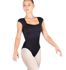 Ballet Rosa ANTONELLA-Leotard Manches Courtes Dos Ouvert-NOIR-38 (S)
