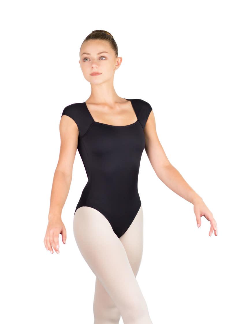 Ballet Rosa ANTONELLA-Cap Sleeve Low Back Leotard-NOIR-38 (S)