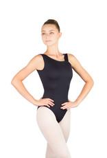 Ballet Rosa BIANCA-Leotard Asymétrique Dos en V-NOIR-38 (S)