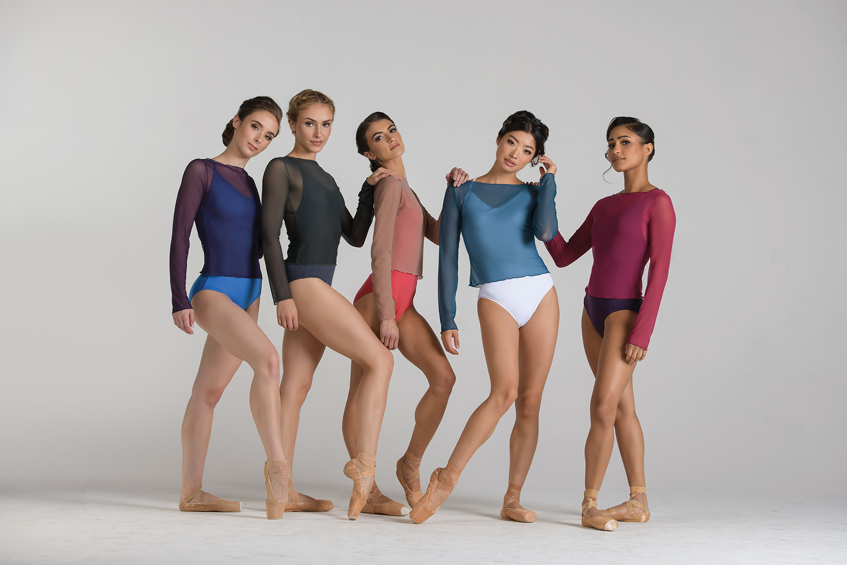 Ballet Rosa NATASHA-Long Sleeve Shirt Mesh