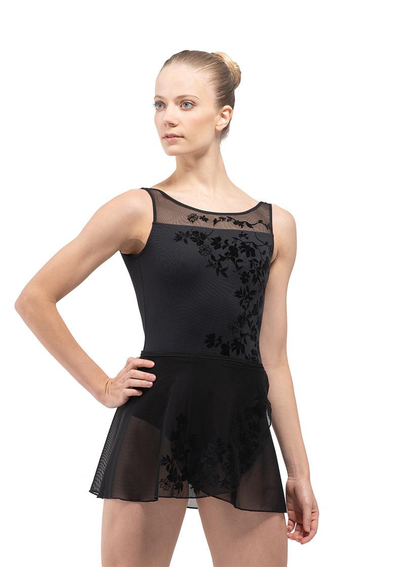 Ballet Rosa LEONIE-Wrap Skirt Velour Print-NOIR-38 (S)