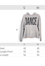 Like G. LG-SW-126G-Crop Hoodie Dance Graphic-GREY