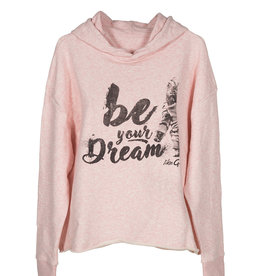 Like G. LG-SW-154P-Hoodie Sweater-PINK-M