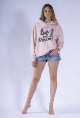 Like G. LG-SW-154P-Hoodie Sweater-PINK-M