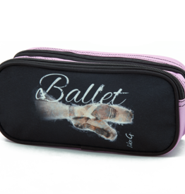 Like G. LG-CASE-104-Double Pencil Case Ballet Graphic