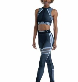 Danshuz 21404A -Legging Sans Coutures-NOIR / GRIS