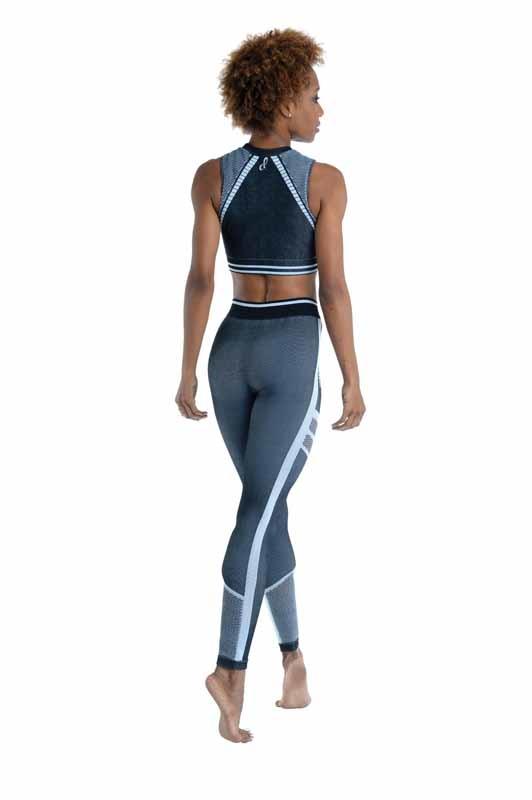 Danshuz 21305A-Top Sport *Dance Sweat Repeat*-NOIR/GRIS