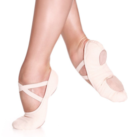 SoDanca SD16-Split sole stretch canvas ballet shoe **No Drawsting**