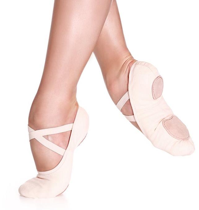 SoDanca SD16-Split sole stretch canvas ballet shoe **No Drawsting**