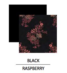 Wear Moi DEMETER-High-Neck Leotard Detailed With Printed Microfiber-BLACK/RASPBERRY