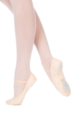 Merlet SYLVIA-Beginners Split Sole Canvas Ballet Shoes Width Medium only-SALMON