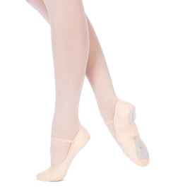 Merlet SYLVIA-Beginners Split Sole Canvas Ballet Shoes Width Medium only-SALMON