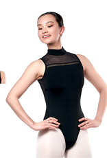 Sansha 50BO1980-Athena High Neck Leotard Mesh Insert-BLACK