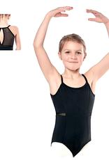 Sansha 51BO1022-Marthe Child Camisole Leotard Mesh Insert-BLACK