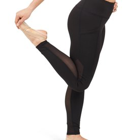 Capezio 11655T-Child Paneled Legging-BLACK