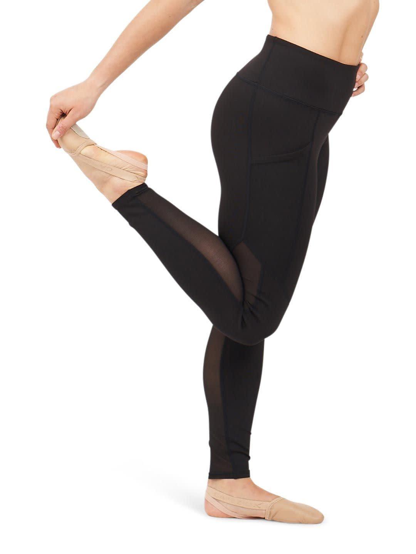 Capezio 11655T-Child Paneled Legging-BLACK
