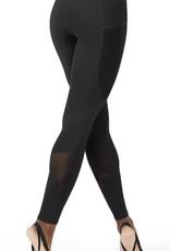 Capezio 109191W-Legging Avec Insertion de Mesh-NOIR