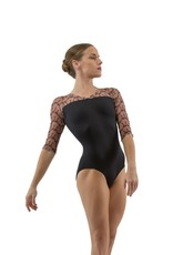 Ballet Rosa ANOUK-3/4 Sleeve V Front With Embroidered Mesh