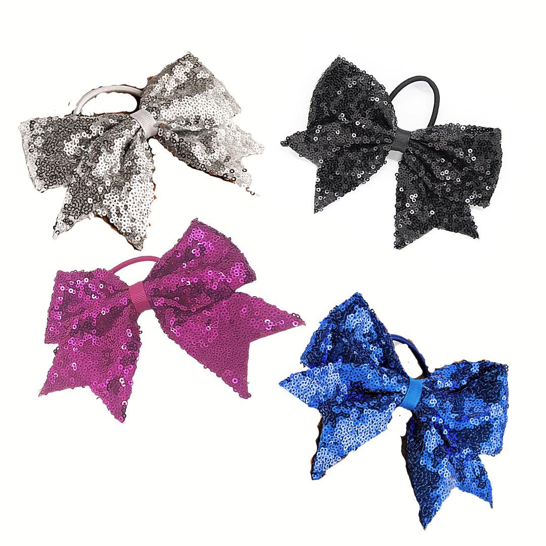 FH2 PT0083-Sparkle Bow Hair Tie