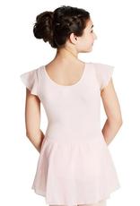 Capezio 11305C-Child Flutter Sleeve Dress-PINK