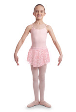 Bloch CR6511-Chanelle Animal printed mesh pull on skirt-PINK
