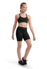 Bloch FR5261C-Gretta Bloch Logo Elastic High Waist Biker Shorts