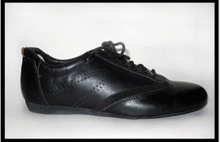 Ballo BALLO CLASSIC- Chaussures de Danse Sport Unisexe Semelle de Suède-CUIR NOIR