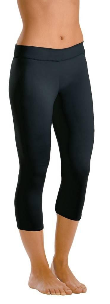 MotionWear 3707-Capri Leggings DriLine-BLACK-XLARGE