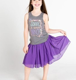 Sugar & Bruno D7649-Sorry I Have Dance Racerback-GREY-ONE SIZE CHILD