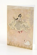 B Plus 202VV04-Vanessa Valencia Cards Embossing 5''x 7''-Swan dance