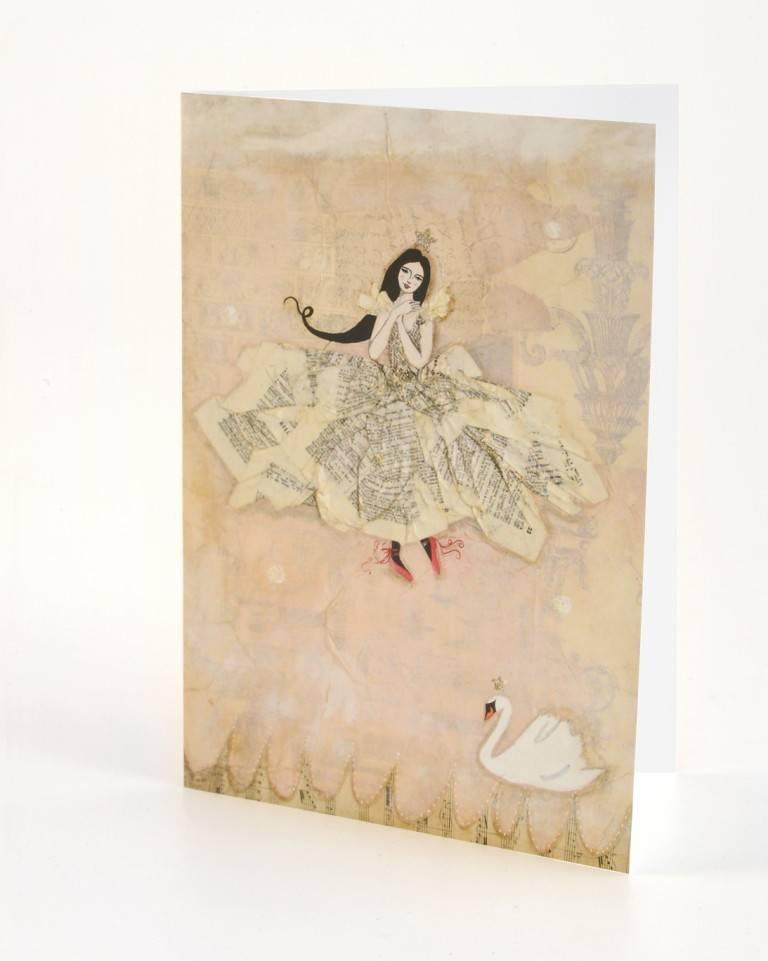 B Plus 202VV04-Vanessa Valencia Cards Embossing 5''x 7''-Swan dance