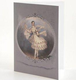 """B Plus 203VIN01-Cartes Vierges en Relief Vintage Marie Taglioni 5""""x 7""""-Lettre"""