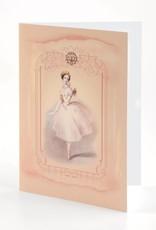 B Plus 203VIN02-Vintage Marie Taglioni Embossed Blank Cards 5''x 7''-Love Bird
