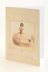 B Plus 203VIN03-Vintage Marie Taglioni Embossed Blank Cards 5''x 7''-Bee