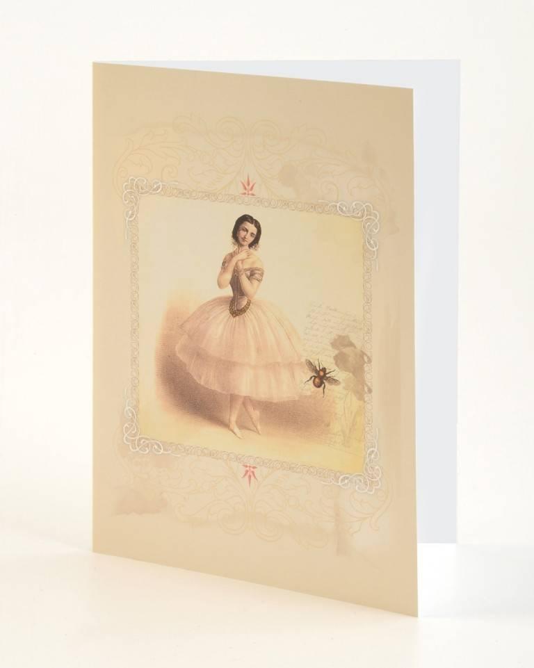"""B Plus 203VIN03-Cartes Vierges en Relief Vintage Marie Taglioni 5""""x 7 '' Bee"""