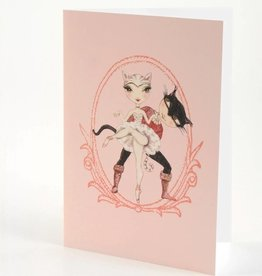 B Plus 204BP02-Ballet Paper Blank Cards 5''x 7''-Cats