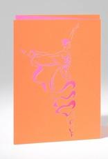 B Plus 201CO02-Carte Vierge Découpée au Laser Caroline Ochoa 41 / 2''x 61/4 '' - Arabesque