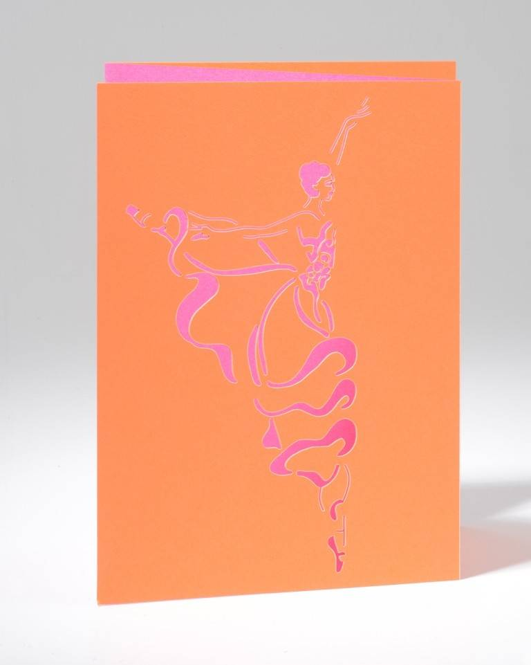 B Plus 201CO02-Caroline Ochoa Laser Cut Blank Card 41/2''x 61/4''-Arabesque
