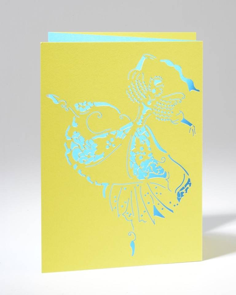 B Plus 201CO03-Caroline Ochoa Laser Cut Blank Cards 41/2''x 61/4''-A la seconde