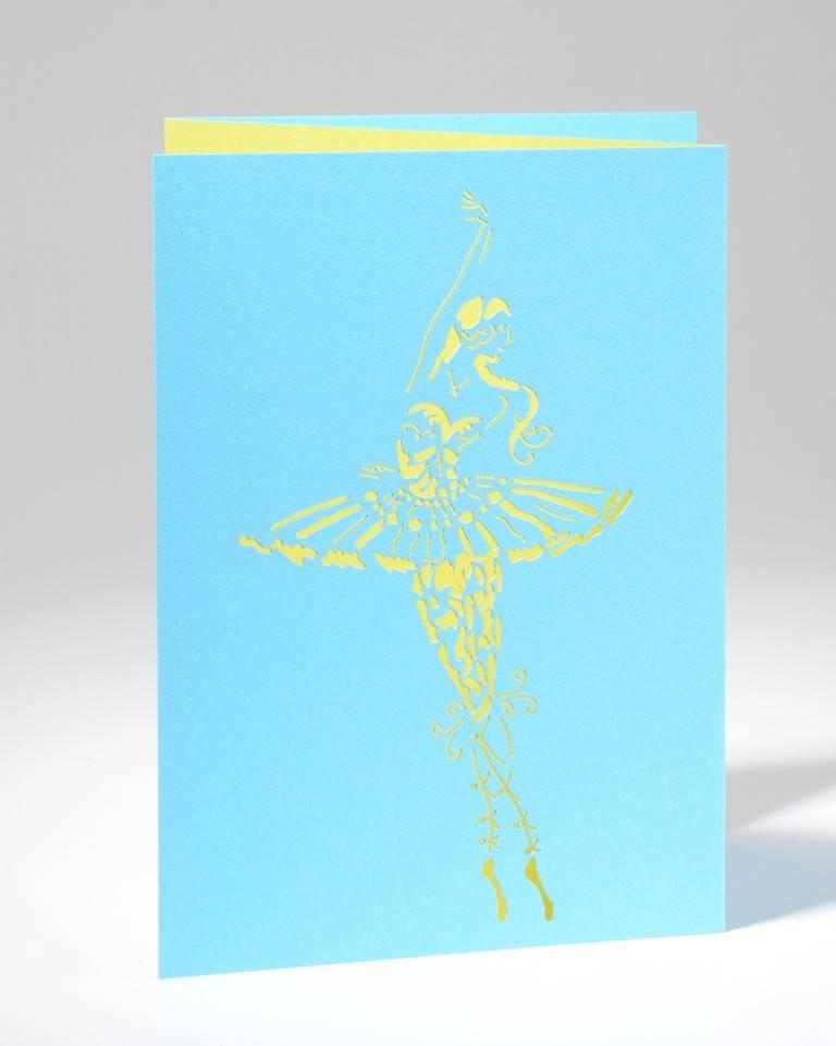 """B Plus 201CO04-Caroline Ochoa Laser Cut Blank Cards 41/2''x 61/4'""""-En pointe"""